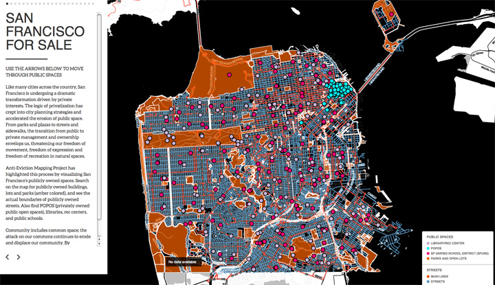 A Map Of Our Vanishing Public Space ZRants - Interactive space map